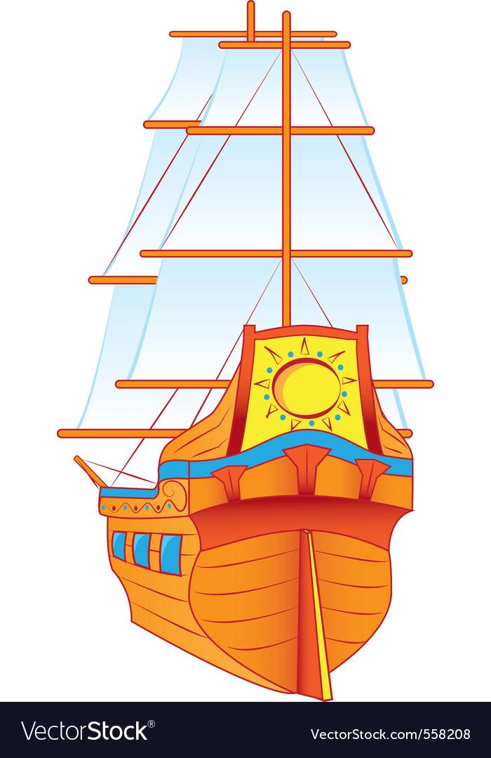 Ship sails vector