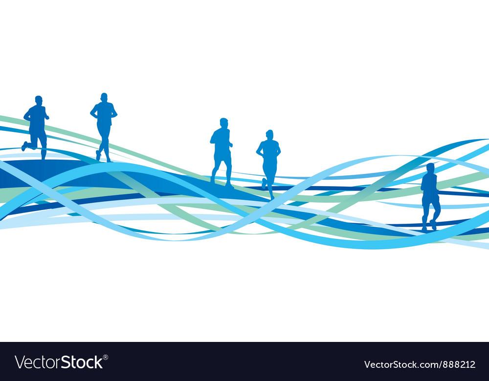 Runners spiral vector
