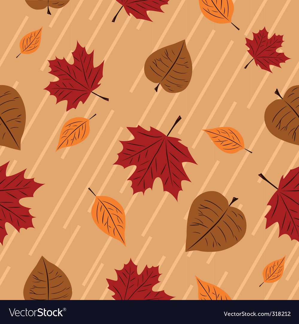 Seamless autumn vector