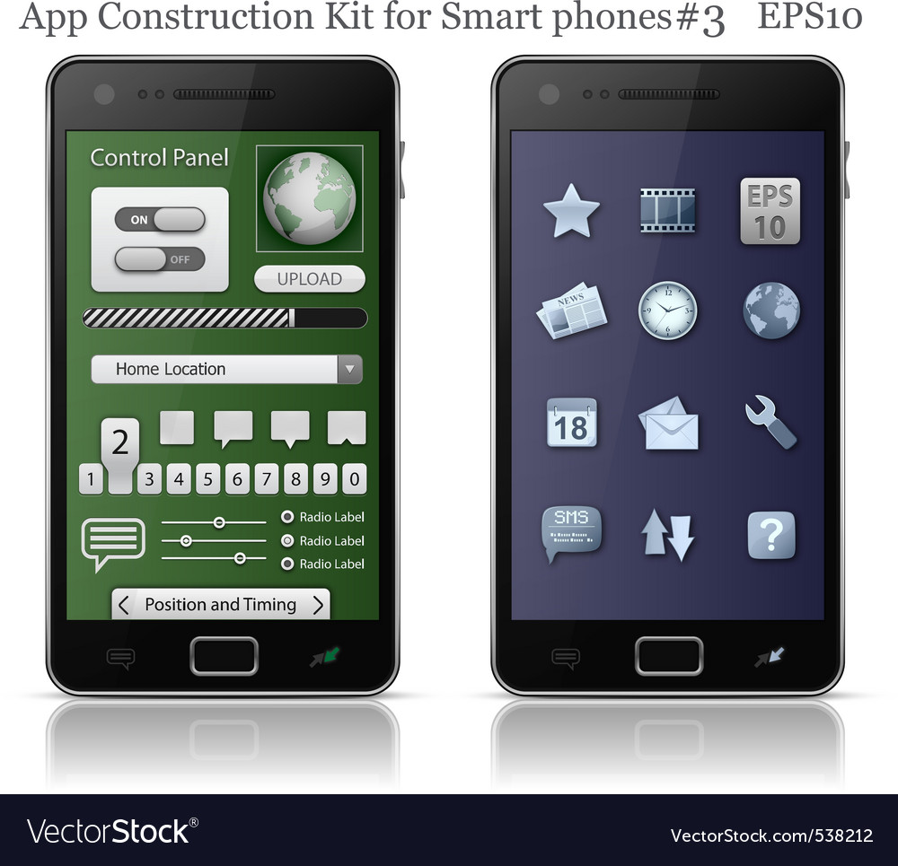 Ui elements for smart phone vector