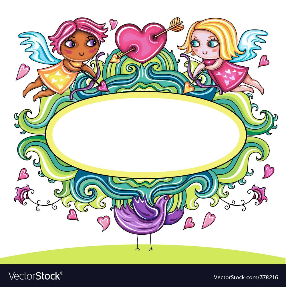 Valentine frame 3 vector