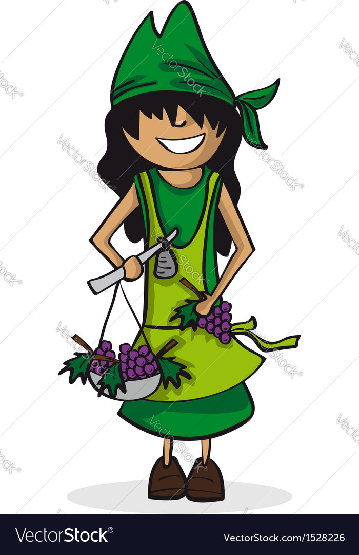Profession farmer woman cartoon figure vector