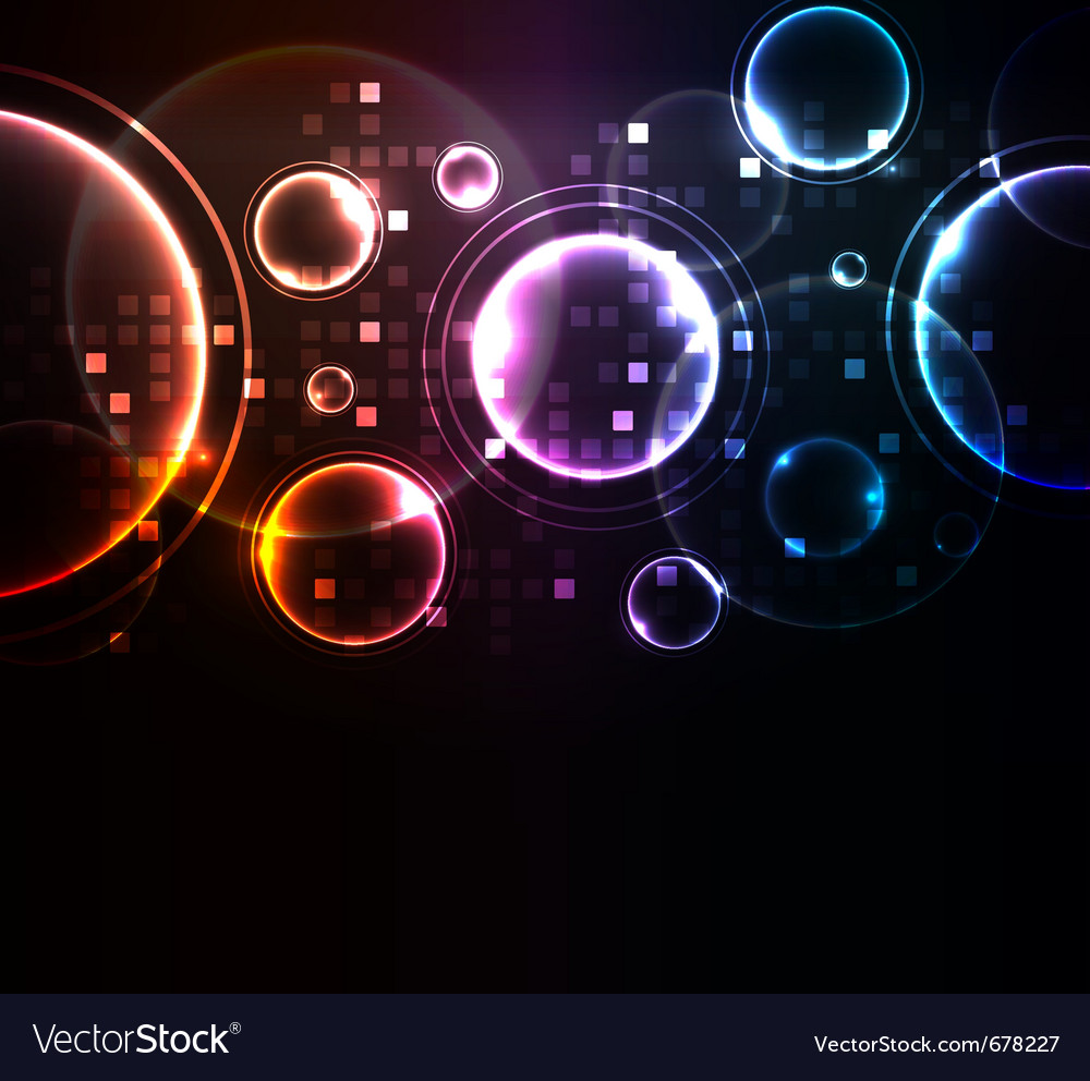Glowing elements vector