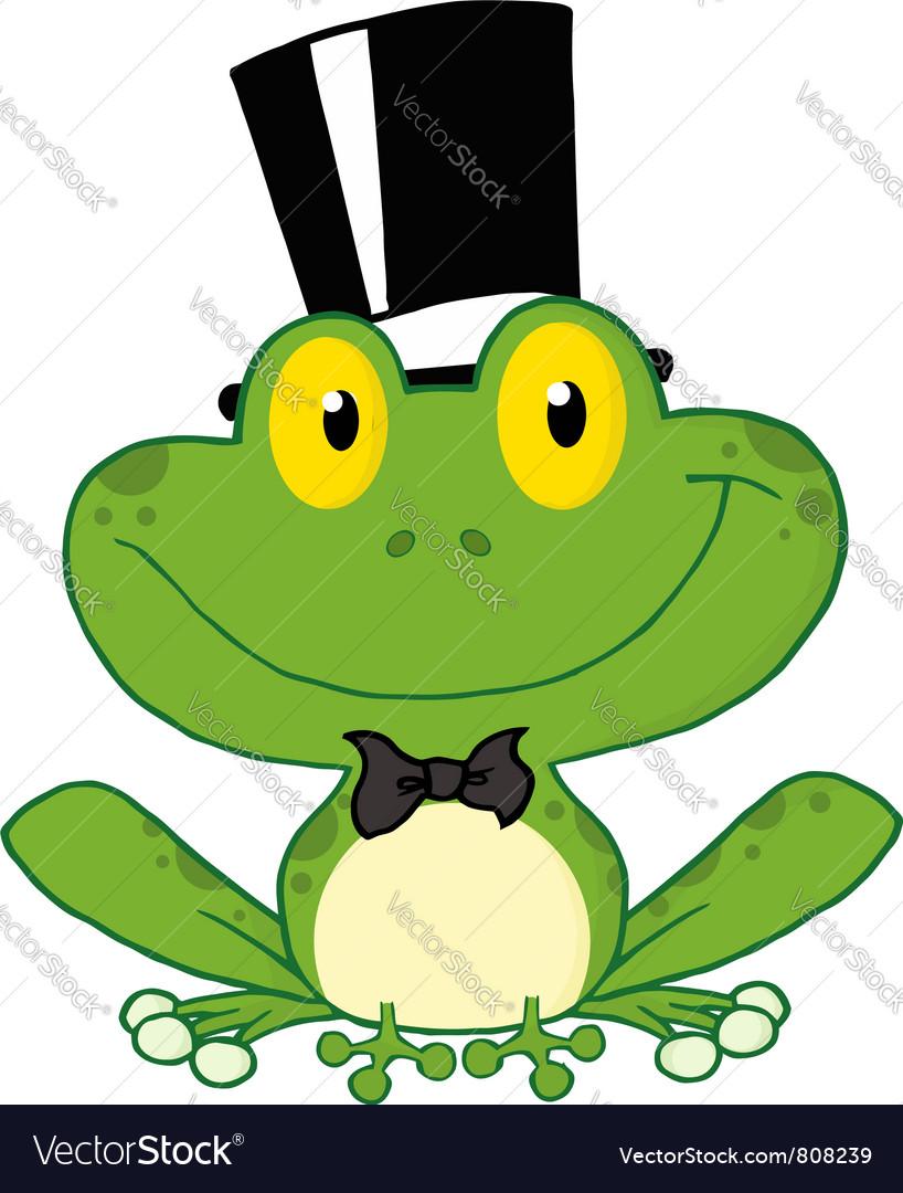 Frog groom vector