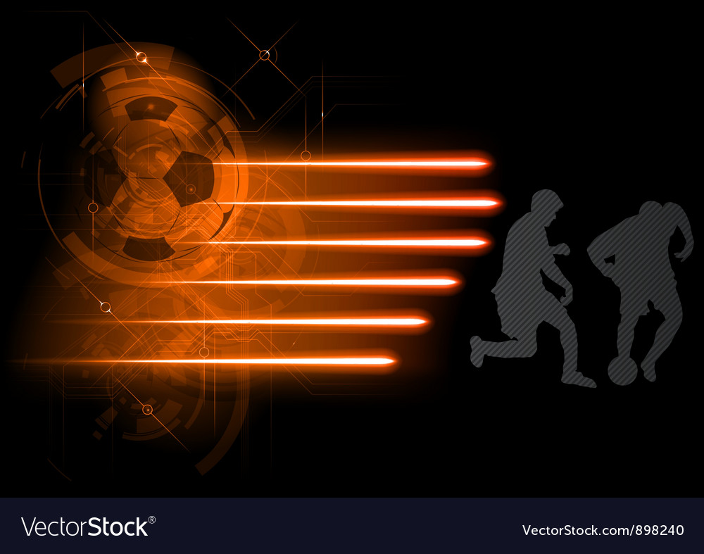 Soccer modern background grey vector