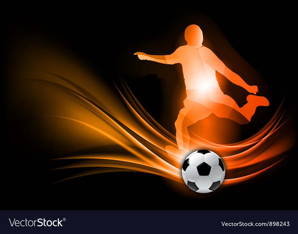 Soccer player abstract red vector