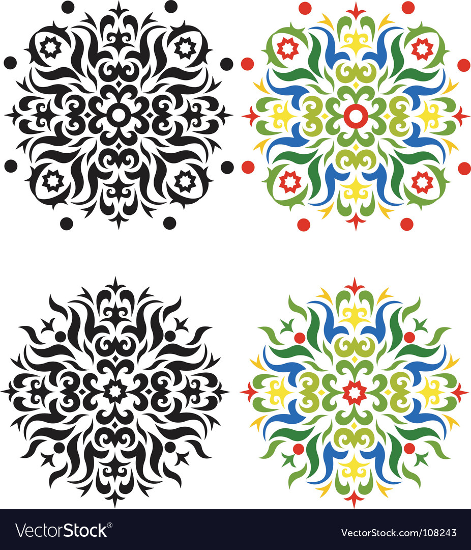 Tile patterns vector