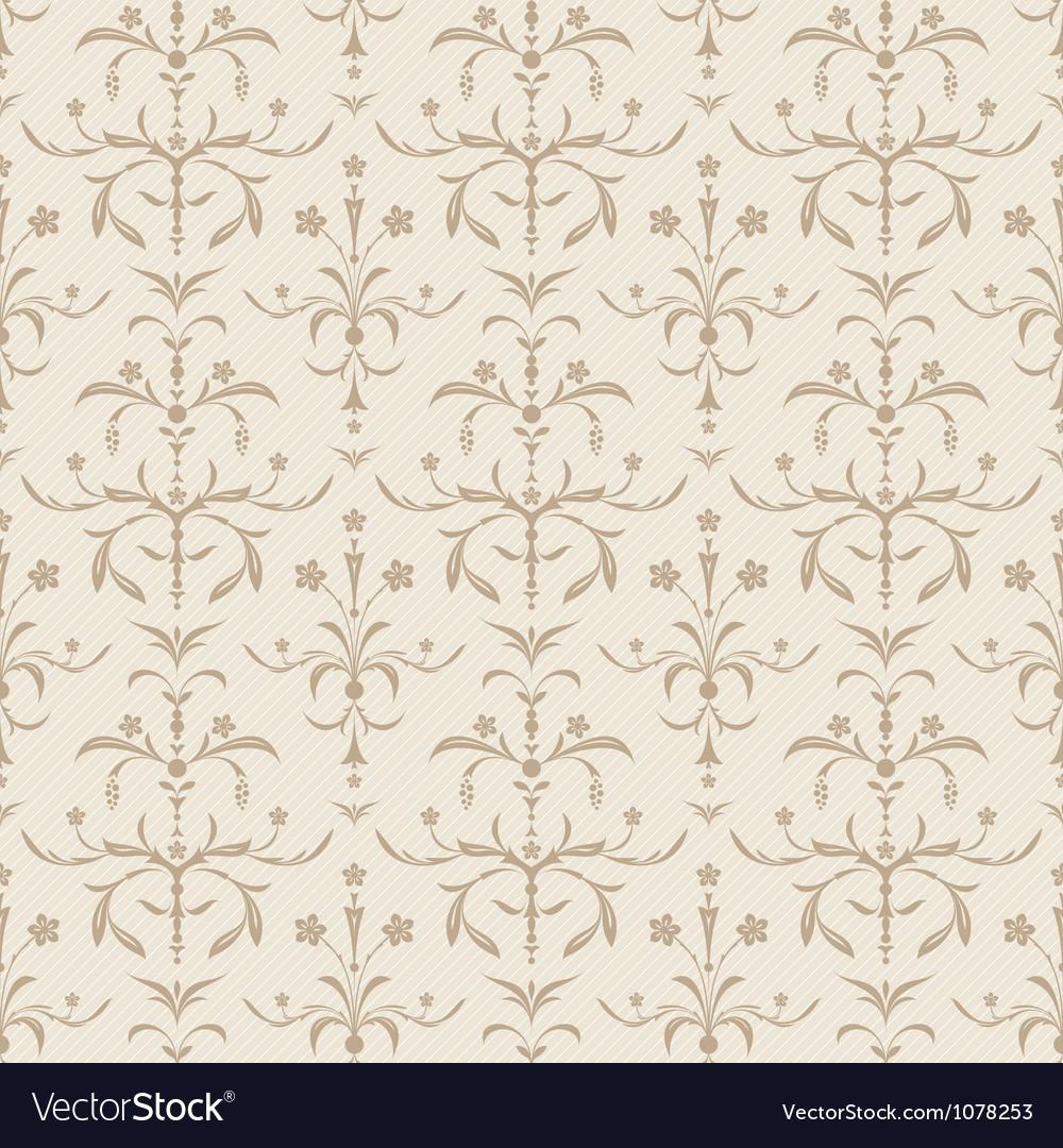 Seamless beige flowers texture vector
