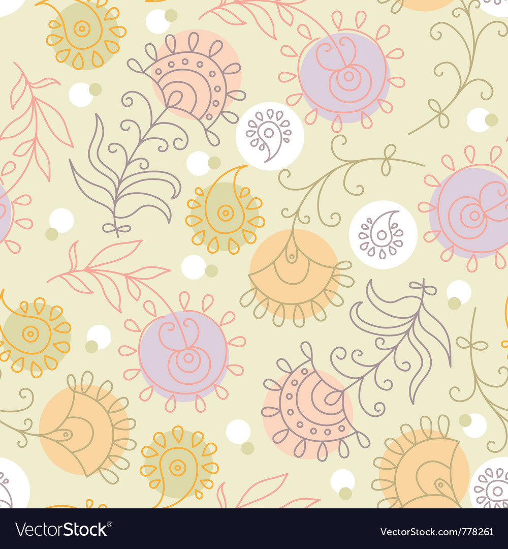 Floral ornament of summer background vector