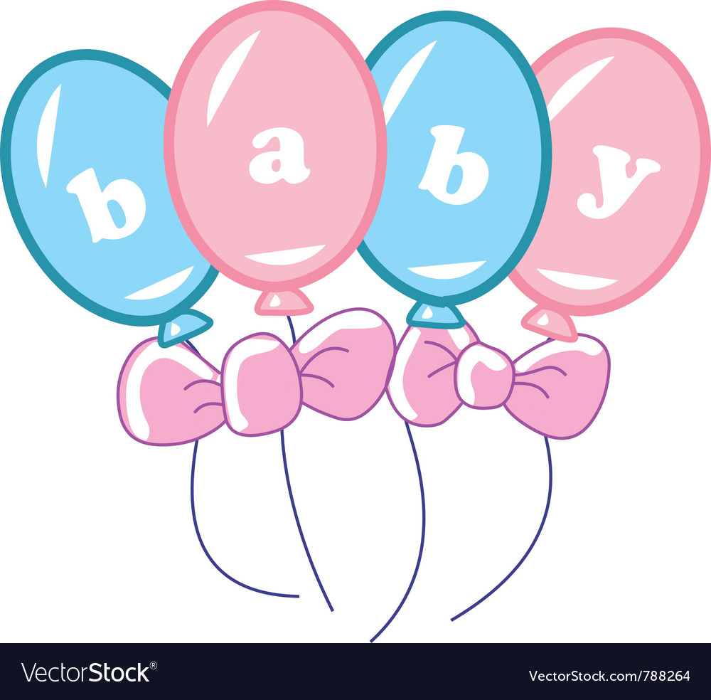 Baby balloons vector art - Download Baby vectors - 788264