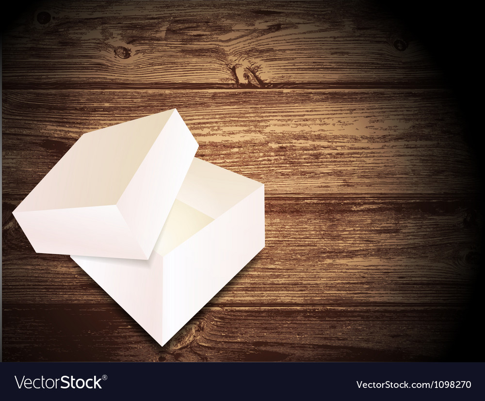 Opened white box vector