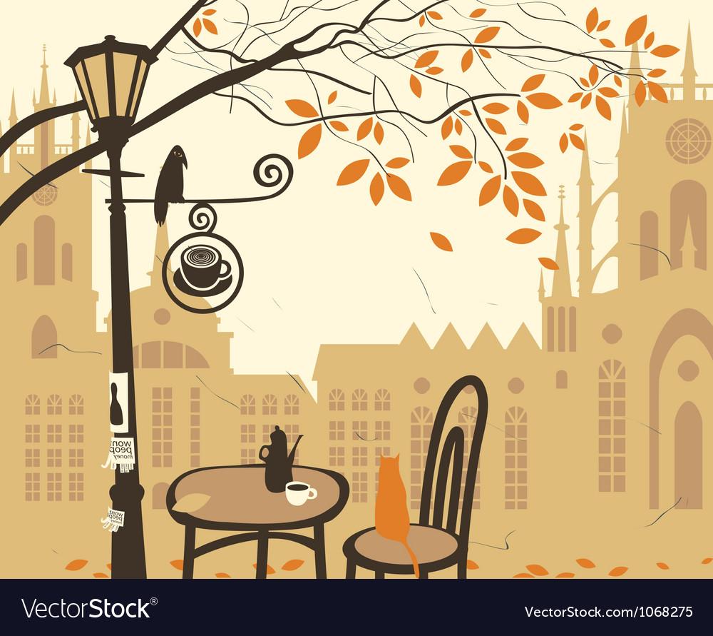 Cafe castle vector