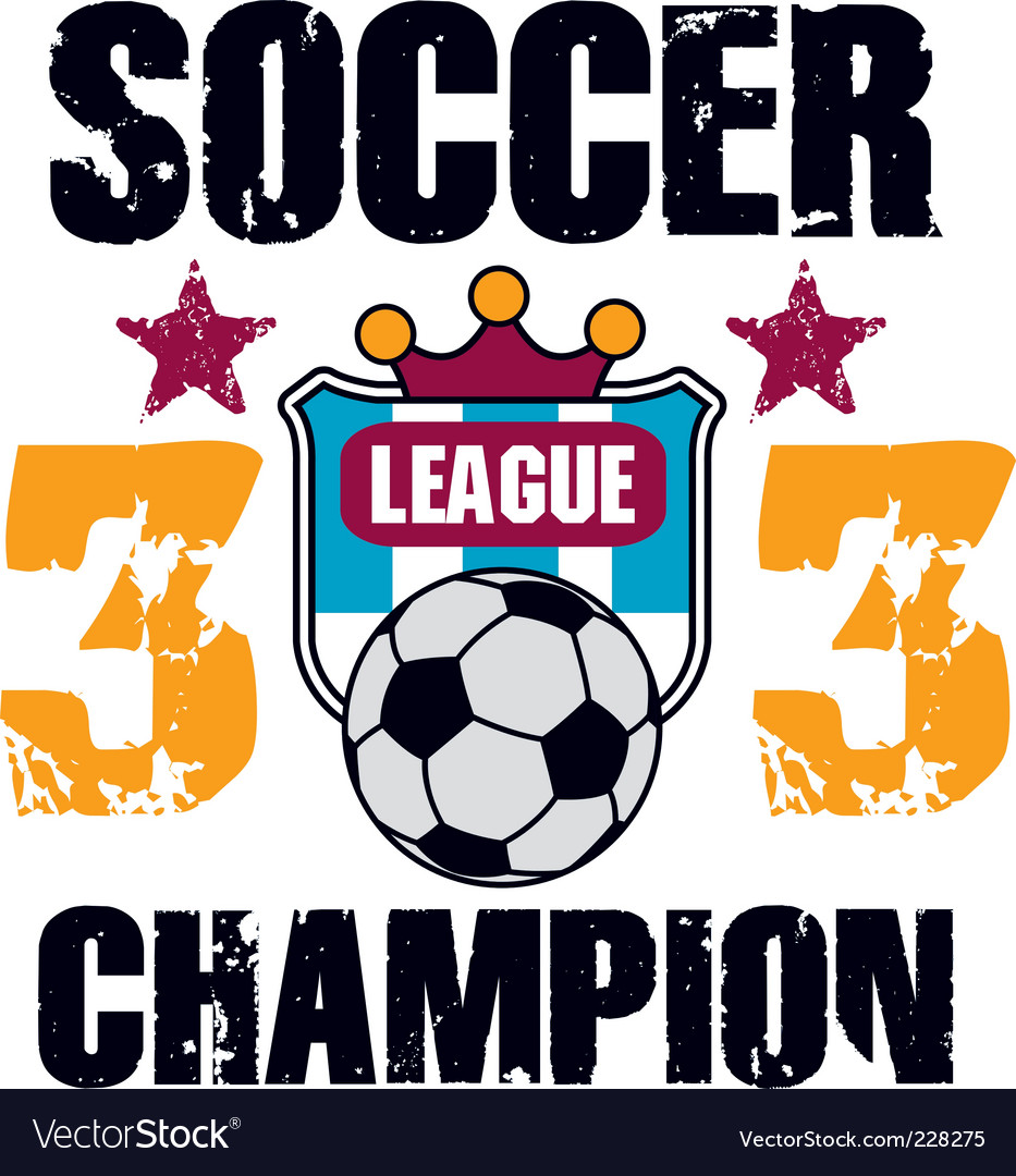 Soccer print vector