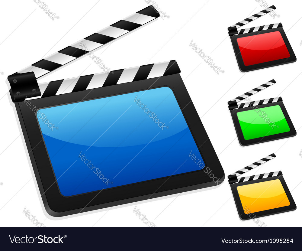 3d digital film slate vector