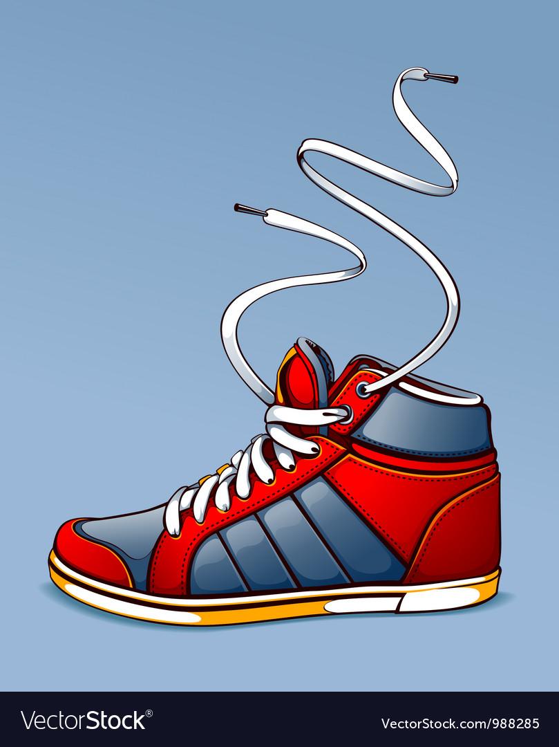 Trendy sneaker vector