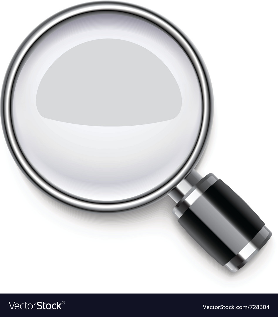 Magnifying glass icon vector