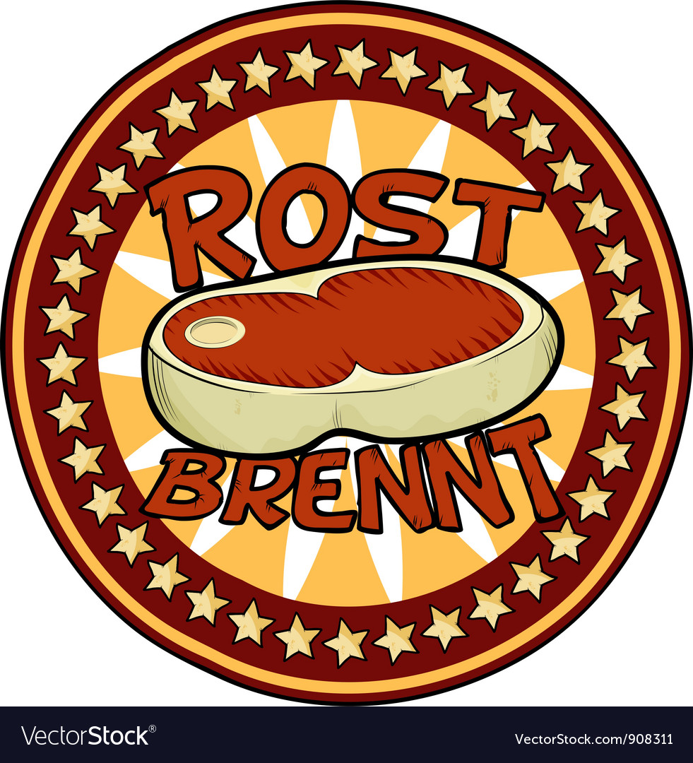 Badge beef vector