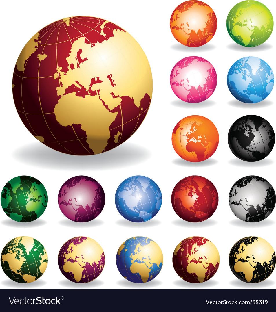 Golden globes vector
