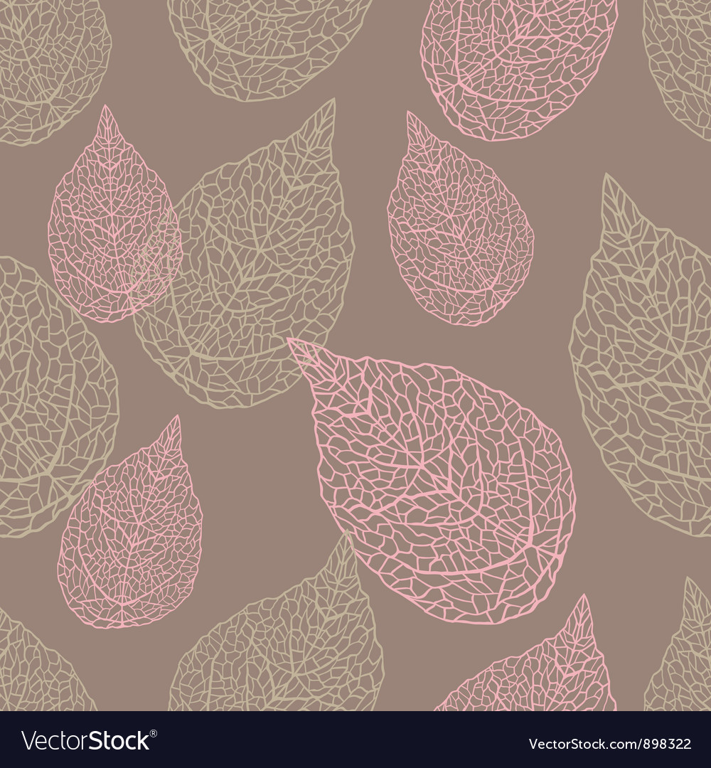 Leaves seamless stylish pattern vector