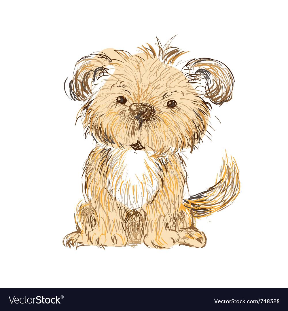 Dog isolated vector