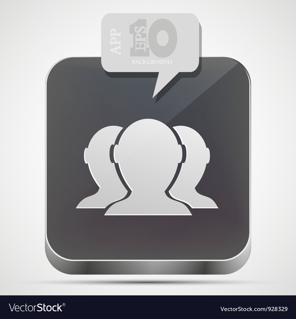 Group of friends app icon vector