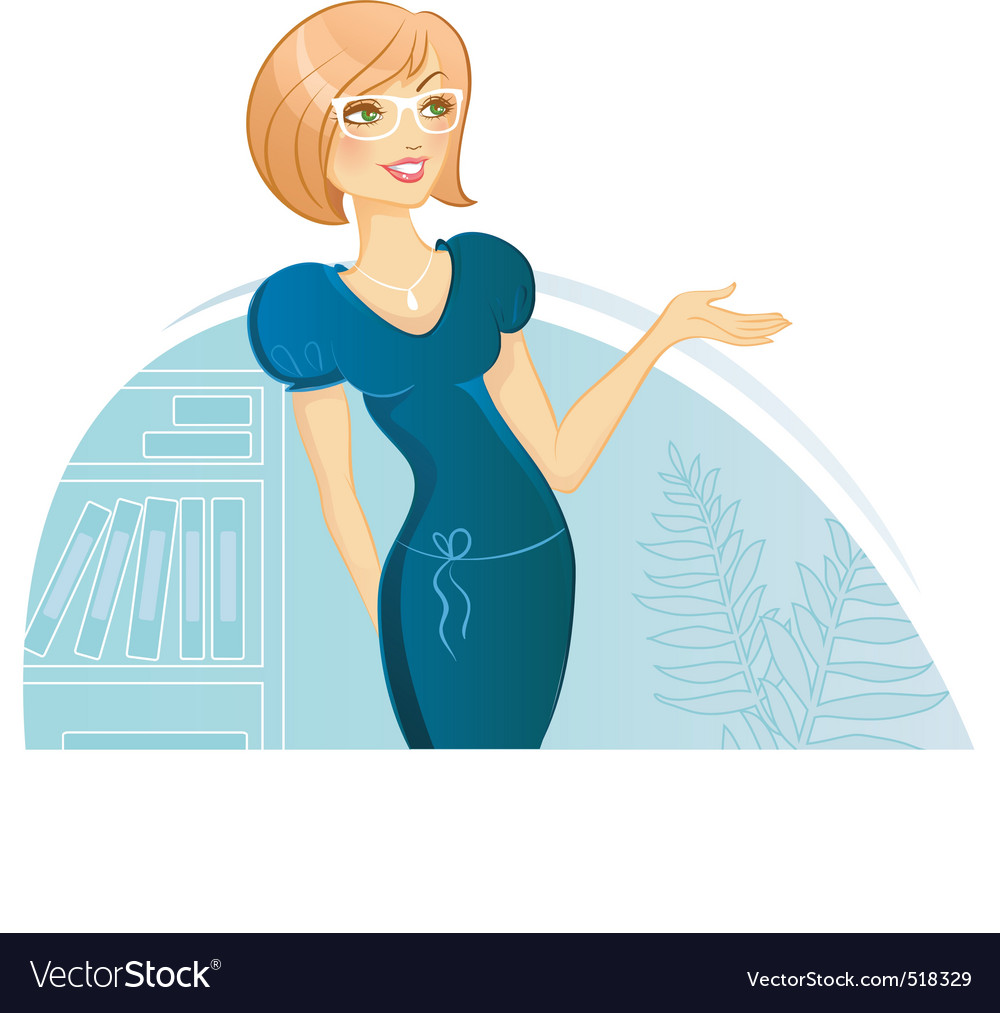Woman presentation vector