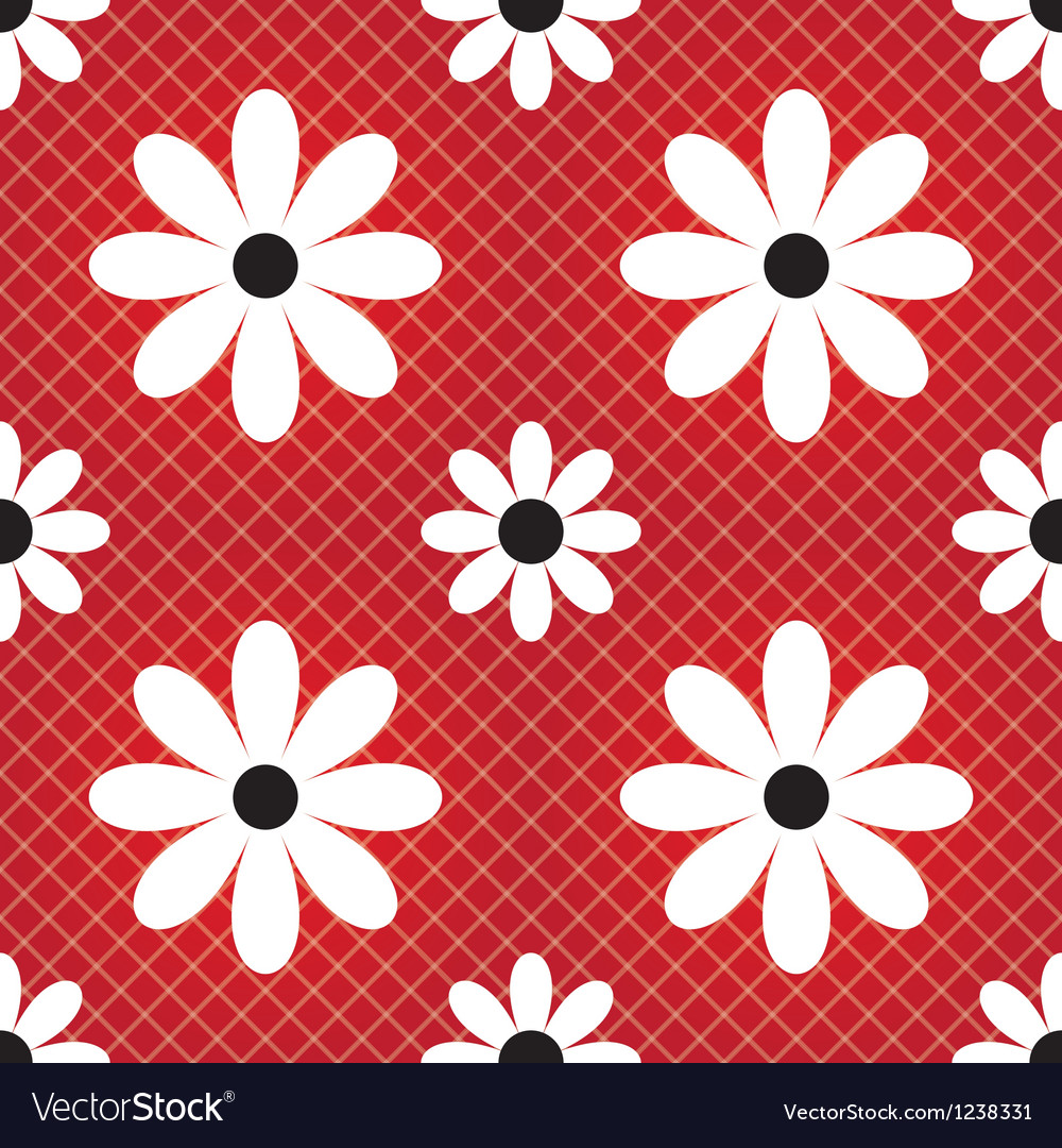 Daisy seamless background vector