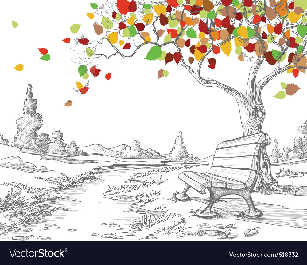 Autumn park vector