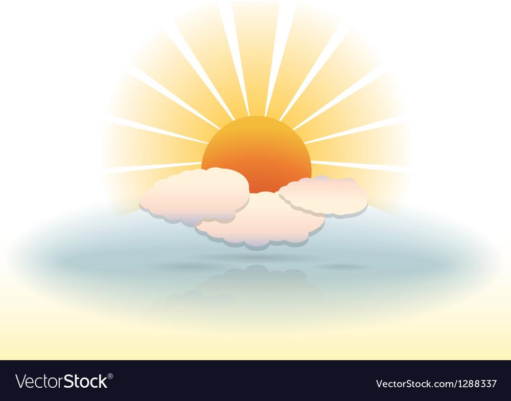 Sunny clouds vector