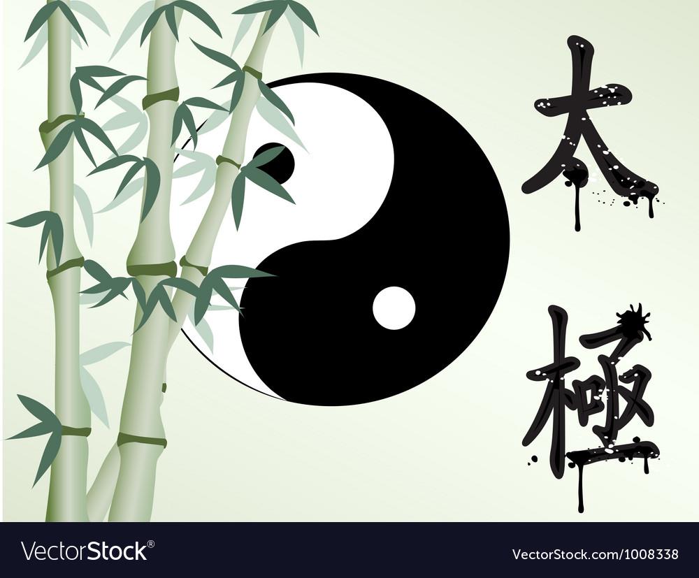 Tai chi bamboo vector