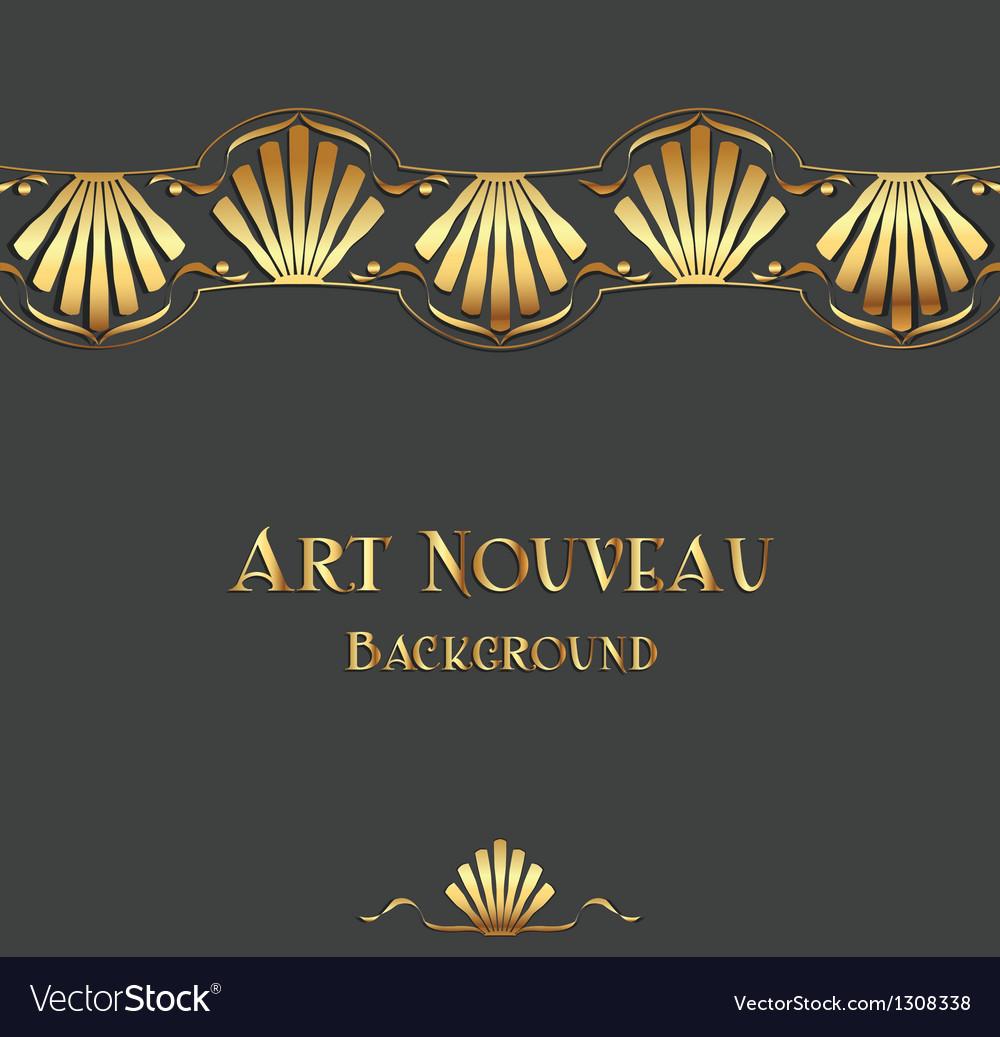 Vintage art nouveau ornament vector