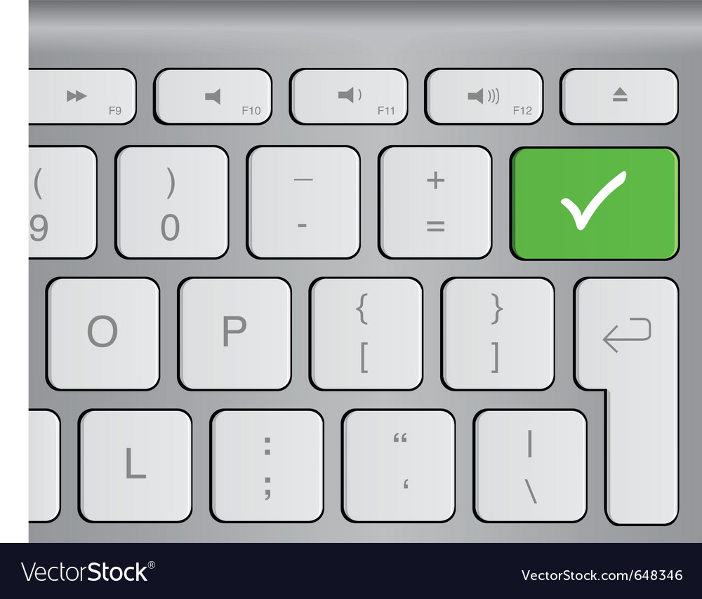 Approval button vector