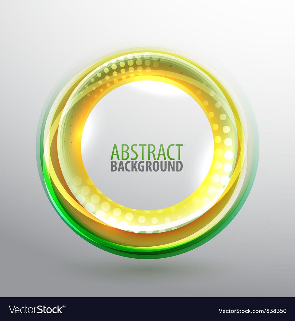Shiny circle background vector