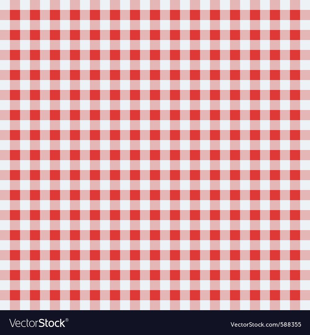 Classic tablecloth vector