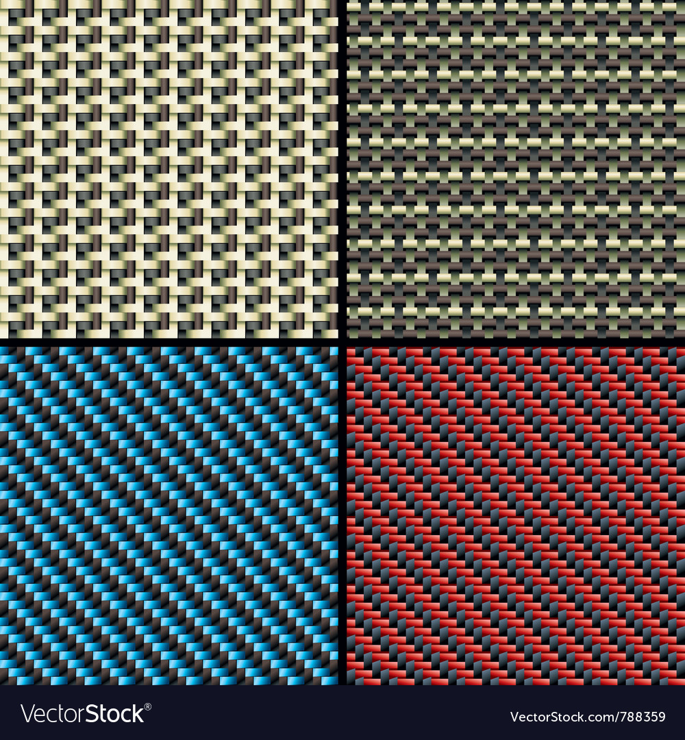 Carbon fiber kevlar and decorative vector