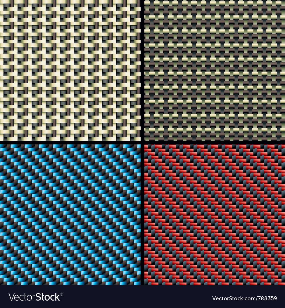 Carbon fiber kevlar and decorative vector