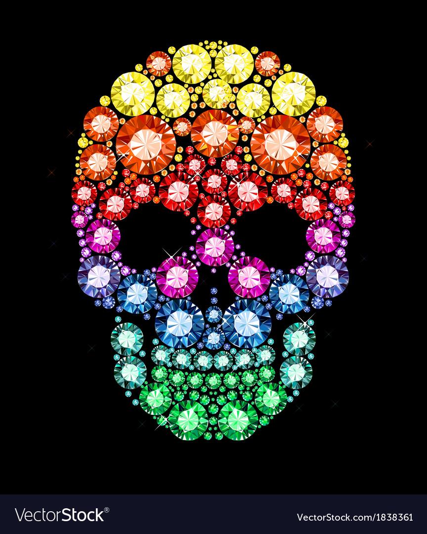 Gem skull vector