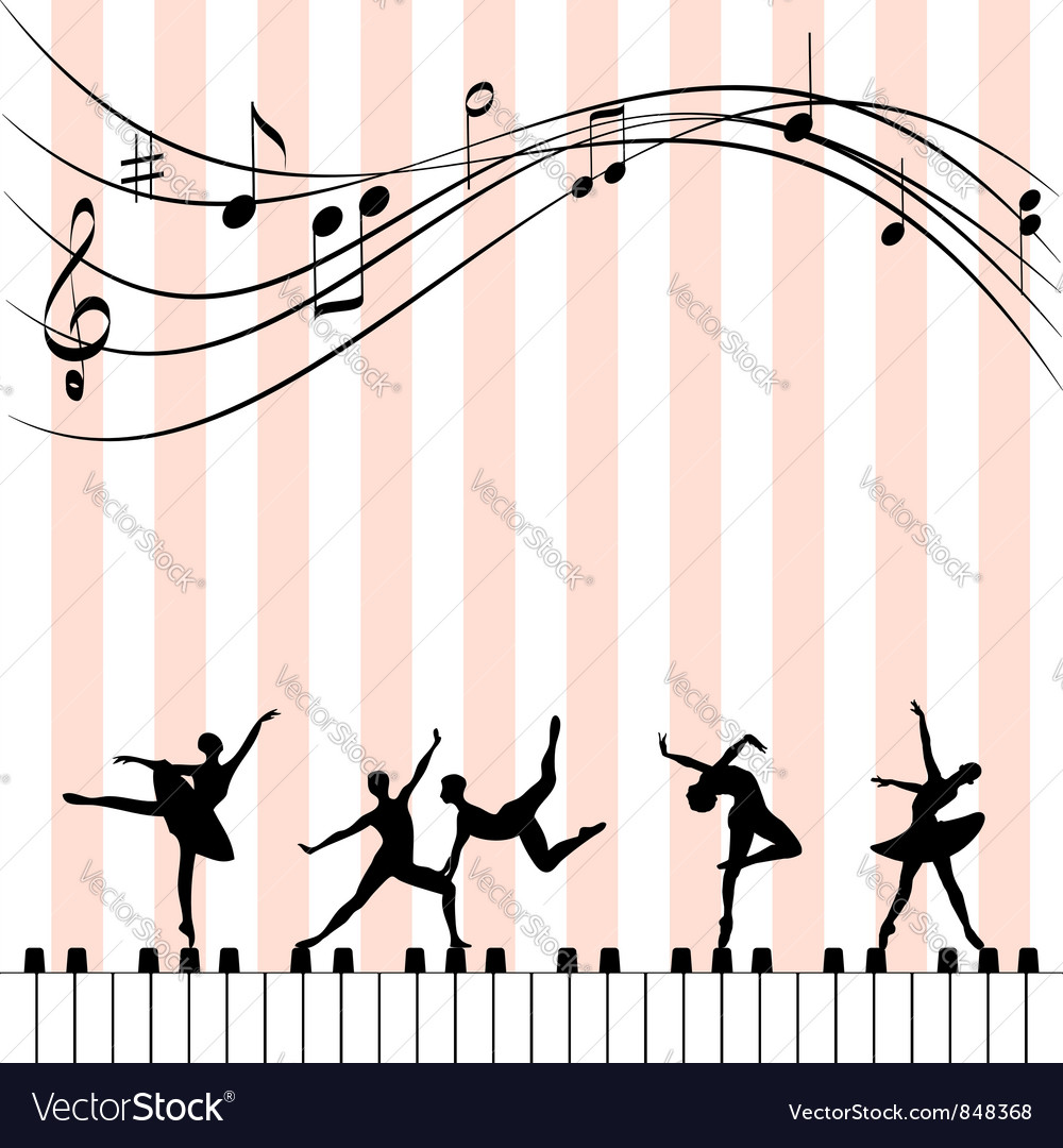 Abstract music festival wallpaper vector