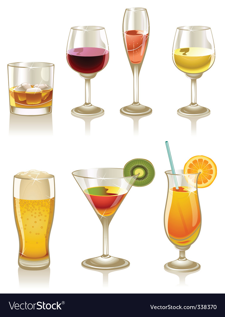 Cocktails and drinks vector