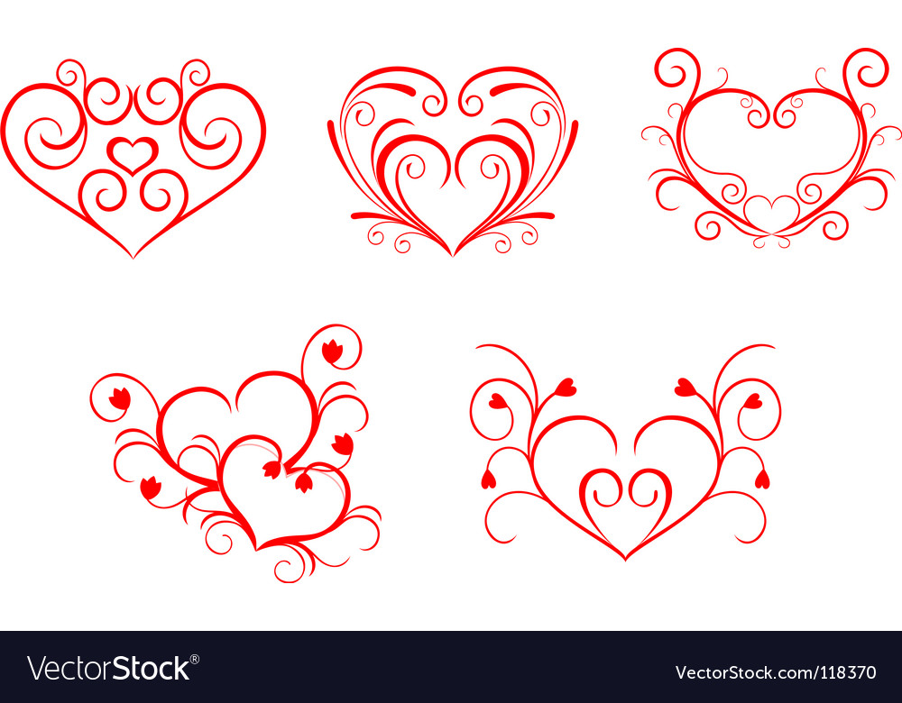 Free valentine hearts vector