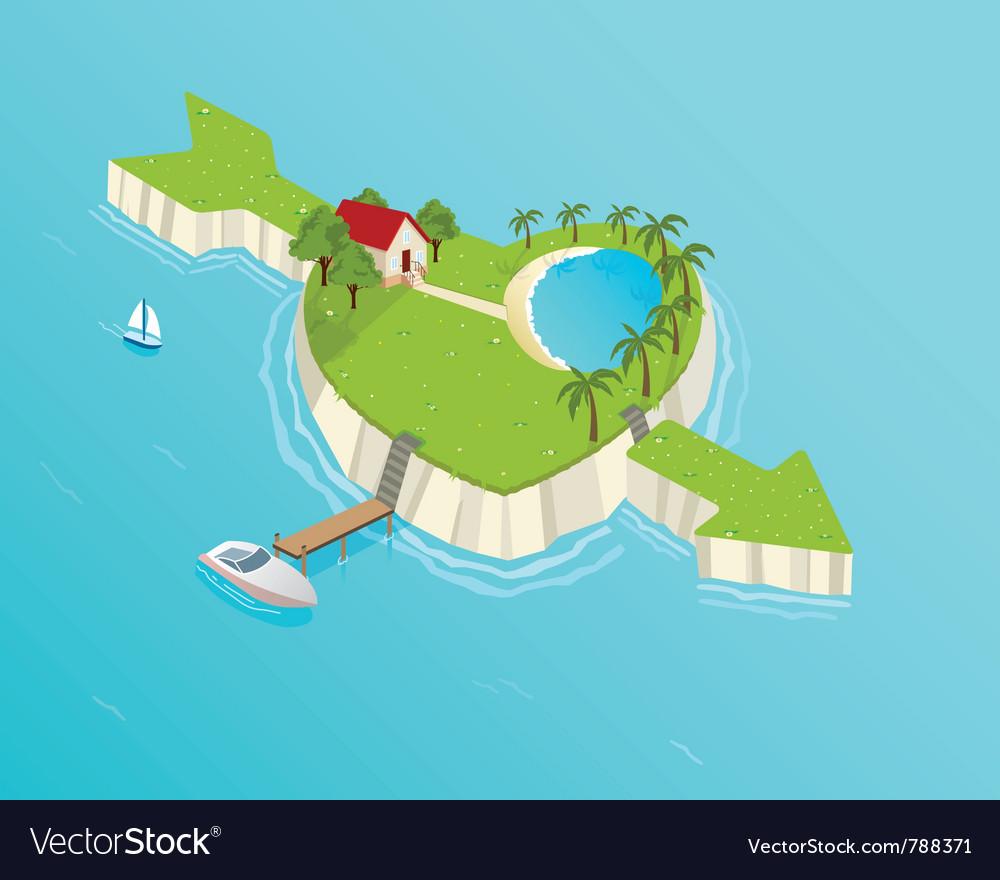 Love island vector