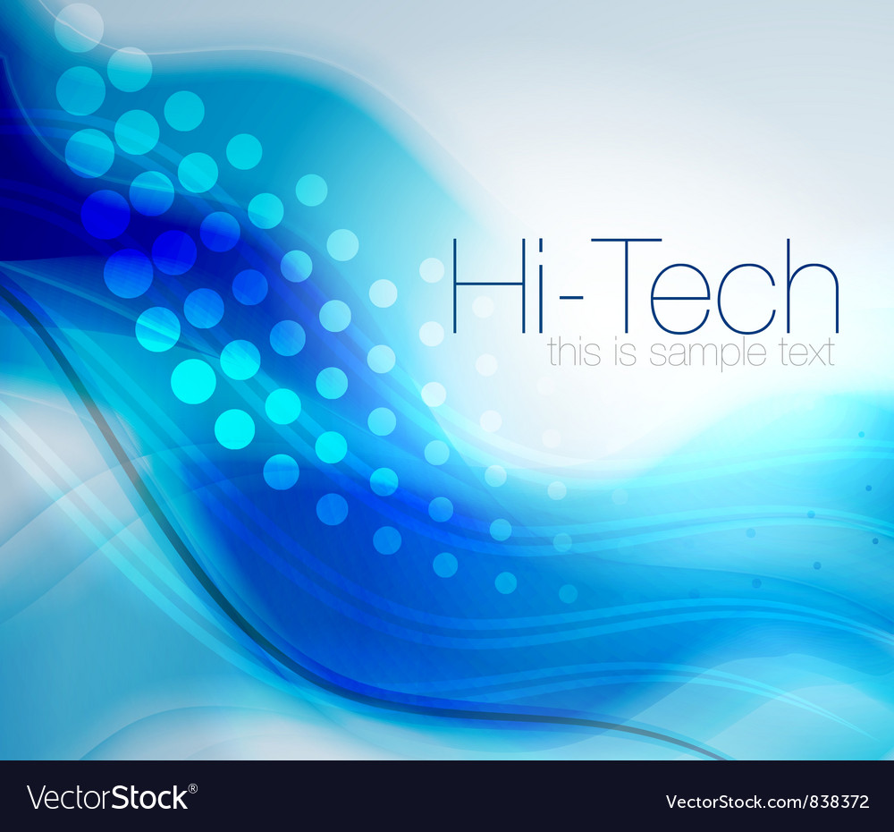 Blue energy wave abstract background vector