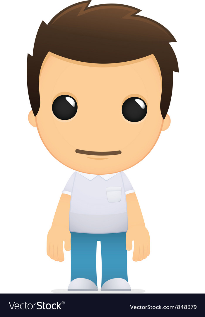 Funny cartoon casual man vector