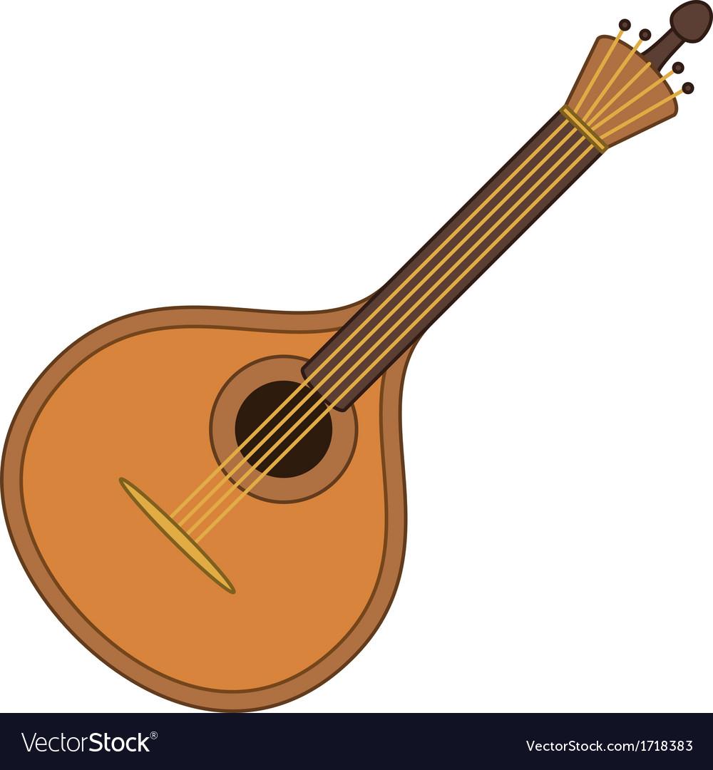 Musical instrument mandolin vector