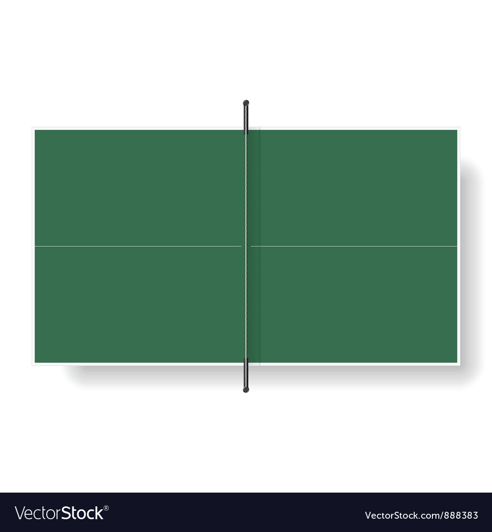 Tennis table vector