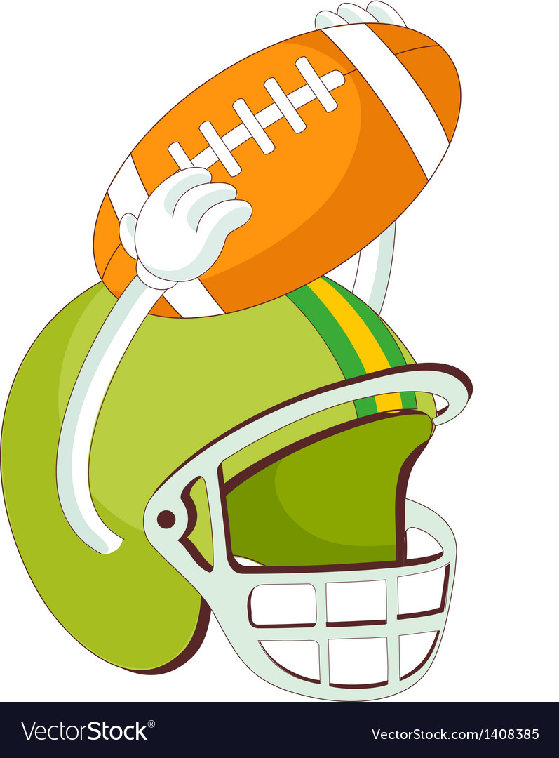 A helmet of rugby vector