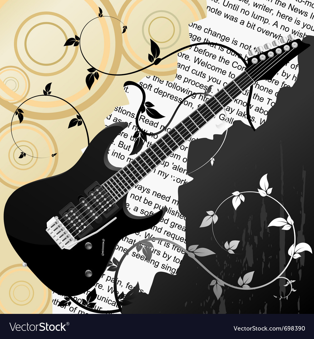 Free guitar background vector