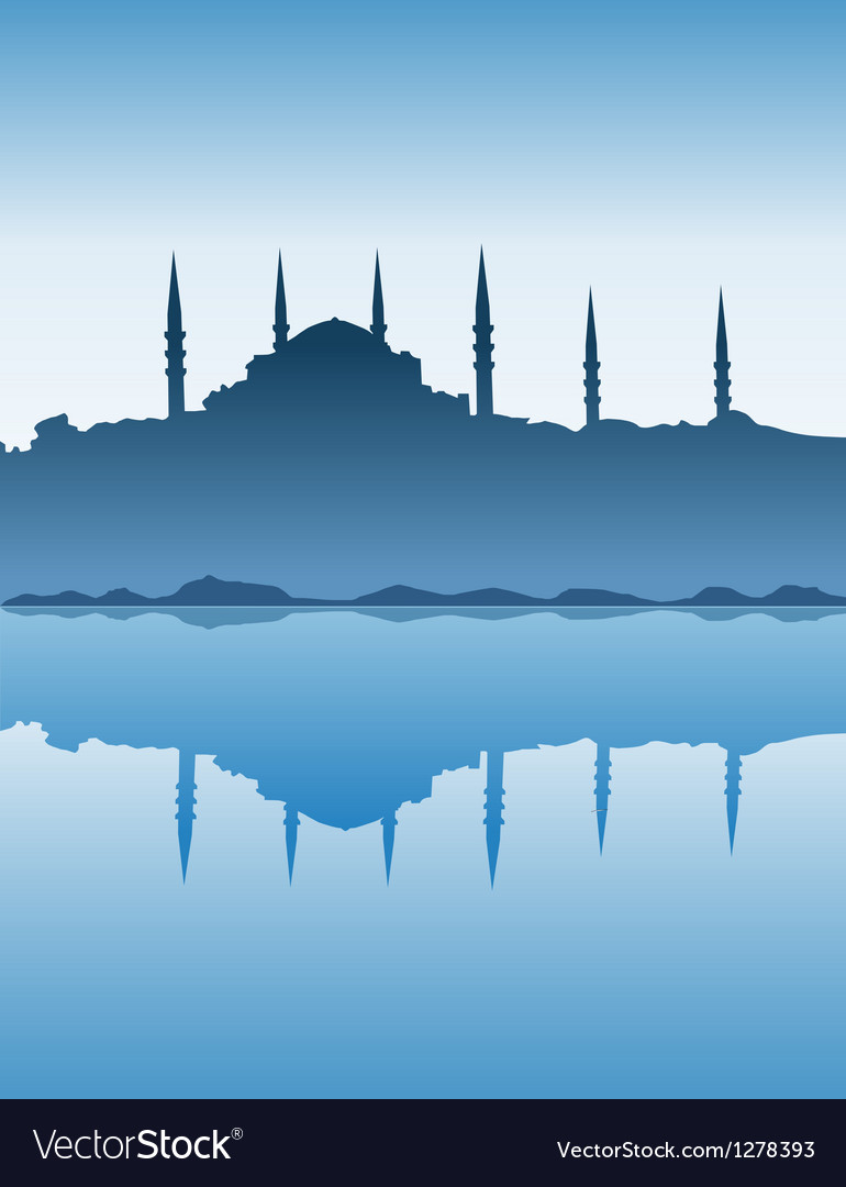 Silhouette of istanbul vector