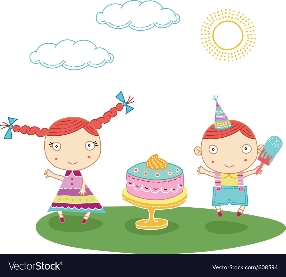 Birthday kids vector