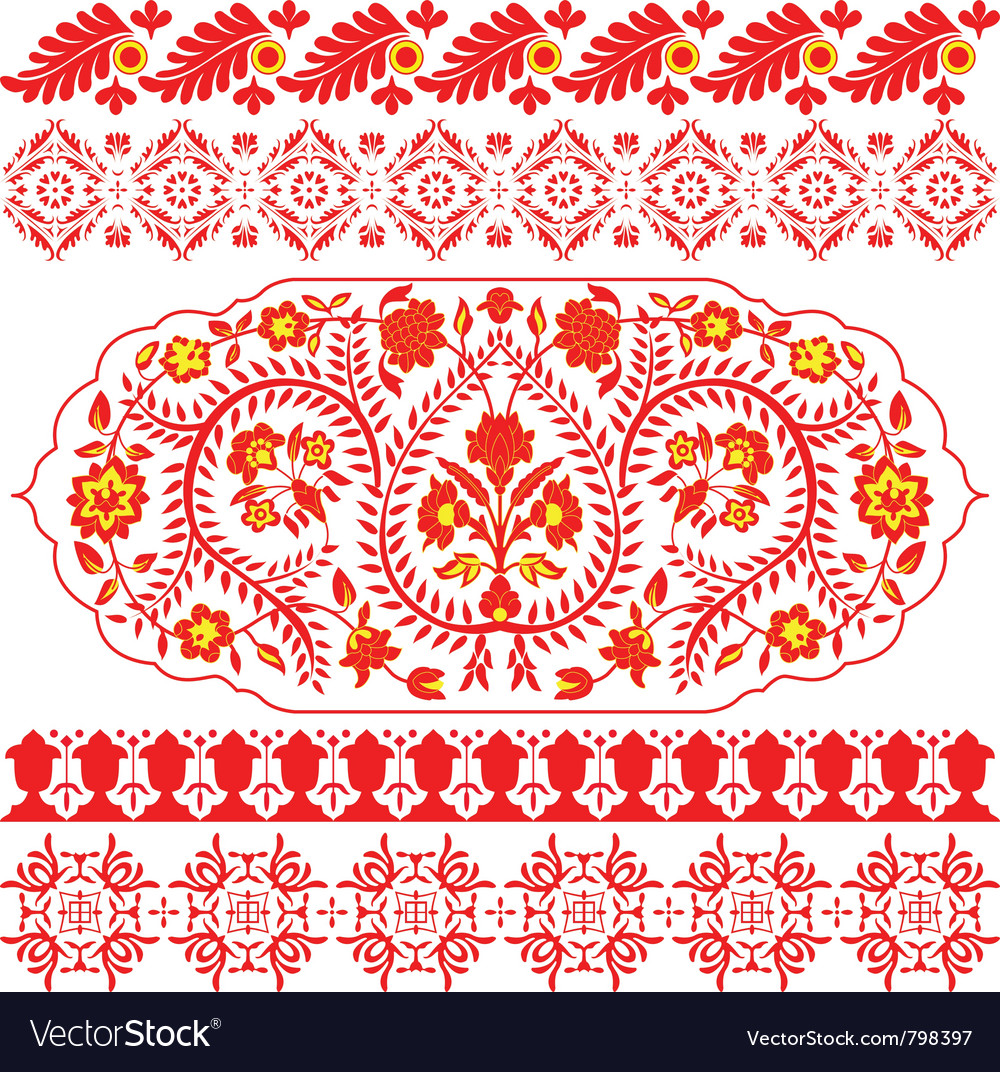 Indian ornaments vector